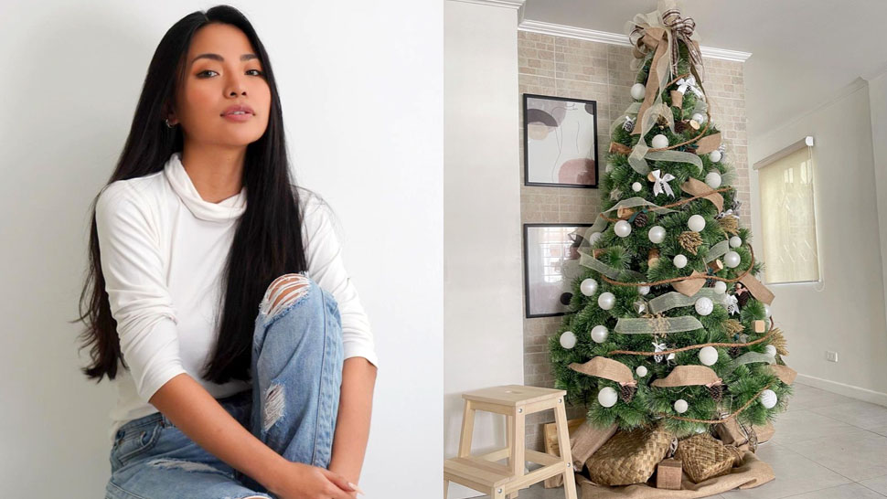 Michelle Dy's Rustic Christmas Tree At Home Is So Chic And Pretty