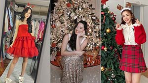 Here's How The Celebrities Dressed Up For Christmas 2020