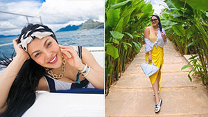 We're Obsessed With The Stylish Beach Ootds Kc Concepcion Wore In El Nido, Palawan