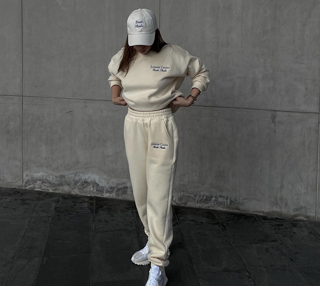 monochrome coords sweat pants hoodie instagram