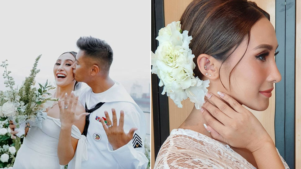 We're in Love with Melissa Gohing's Cool Bride Look with Multiple Ear Piercings
