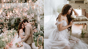 We're Totally Mesmerized By Fashion Designer Patricia Santos' Dreamy Backyard Wedding