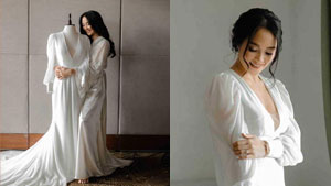 Here's How Lovely Abella's Minimalist Wedding Gown Was Made In Just 2 Days