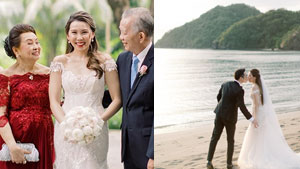 All The Details Of The Beach Wedding Of Sm Scion Eric Charles Uy And Hotelier Reena Ritz Tee