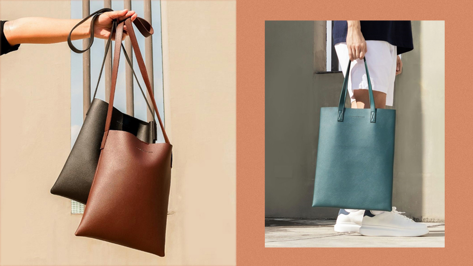 """This Minimalist Leather Tote Is the Perfect Accessory for Your """"Aesthetic"""" OOTDs"""