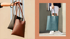This Minimalist Leather Tote Is The Perfect Accessory For Your