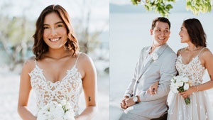You'll Fall In Love With Cara Eriguel's Dreamy Beach Wedding Dress