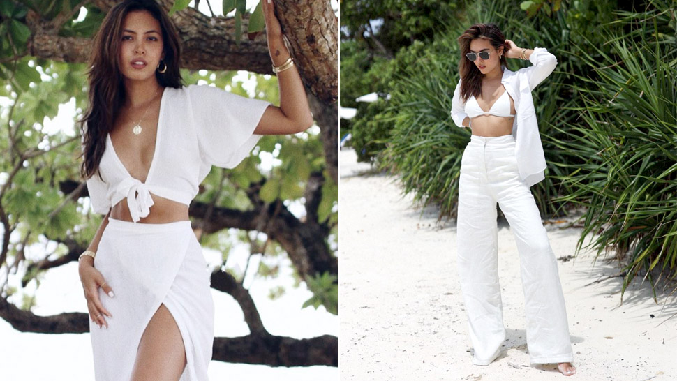 10 All-white Beach Ootds We're Stealing From Maggie Wilson This Summer