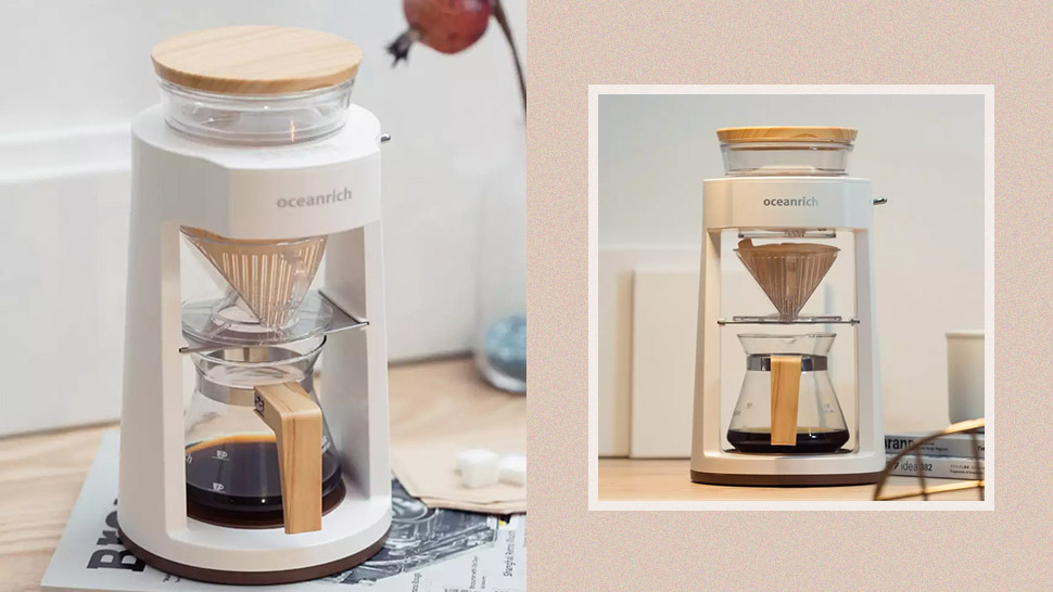 Start Your Day With This Aesthetic Drip Coffee Maker With Wooden Accents