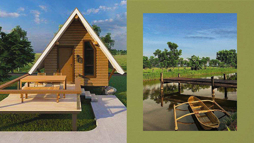These Aesthetic Triangular Cabins Are Situated Beside A River For A Relaxing Getaway