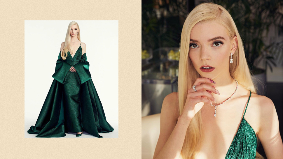 Anya Taylor-Joy's Golden Globes Gown Took 300 Hours to Make