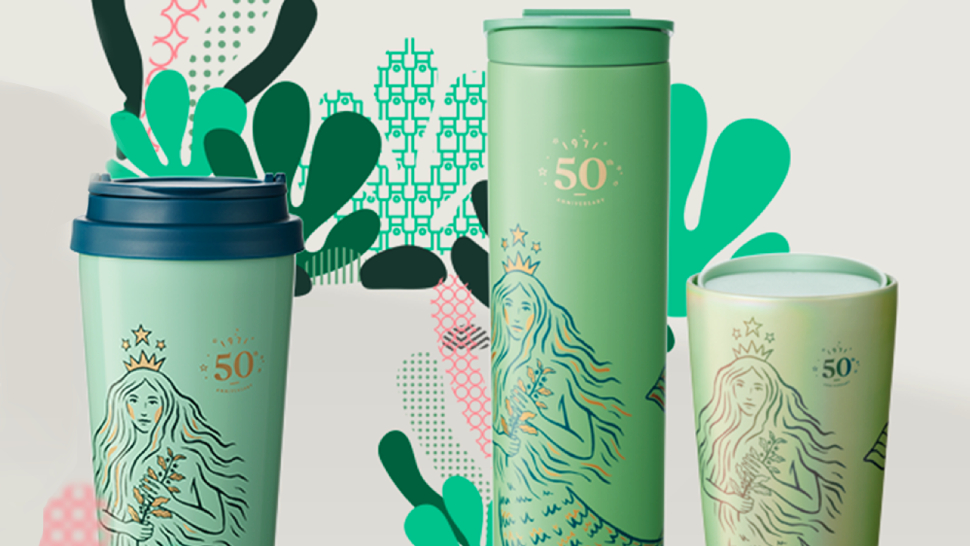 Starbucks Is Celebrating Its 50th Anniversary With A Siren-themed Tumbler Collection