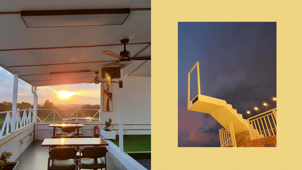 This Rooftop Cafe In Pampanga Has An Amazing View Of The Sunset And Mt. Arayat!