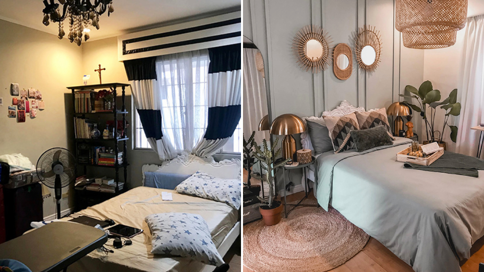 This Interior Designer Transformed Her Old Bedrooom Into A Calming, Boho-themed Space