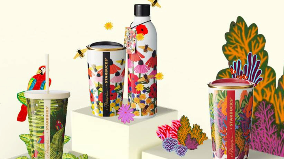 Starbucks' Colorful Line Of New Tumblers Is Perfect For Nature Lovers