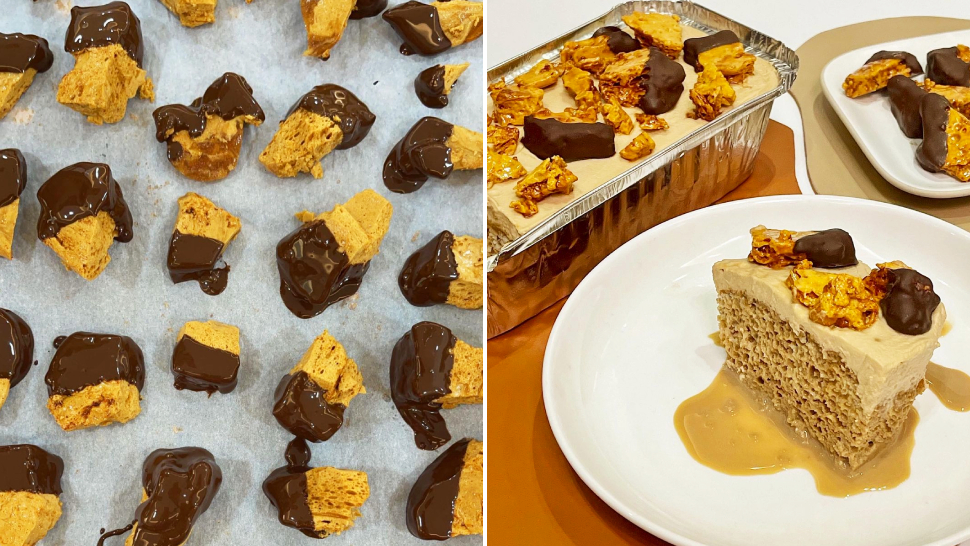 An Espresso-flavored Cake Exists And It Comes With Honeycomb Dipped In Dark Chocolate