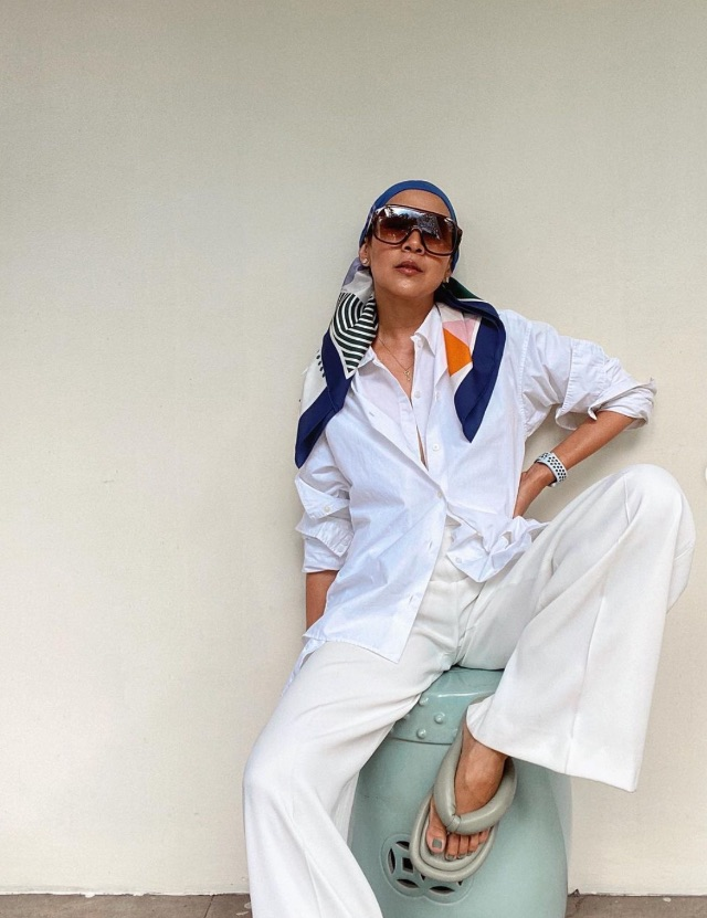 celebrity colored shoe outfit Mikka Padua