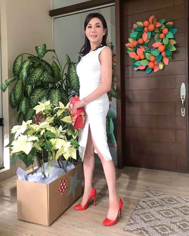 celebrity colored shoe outfit Vicki Belo