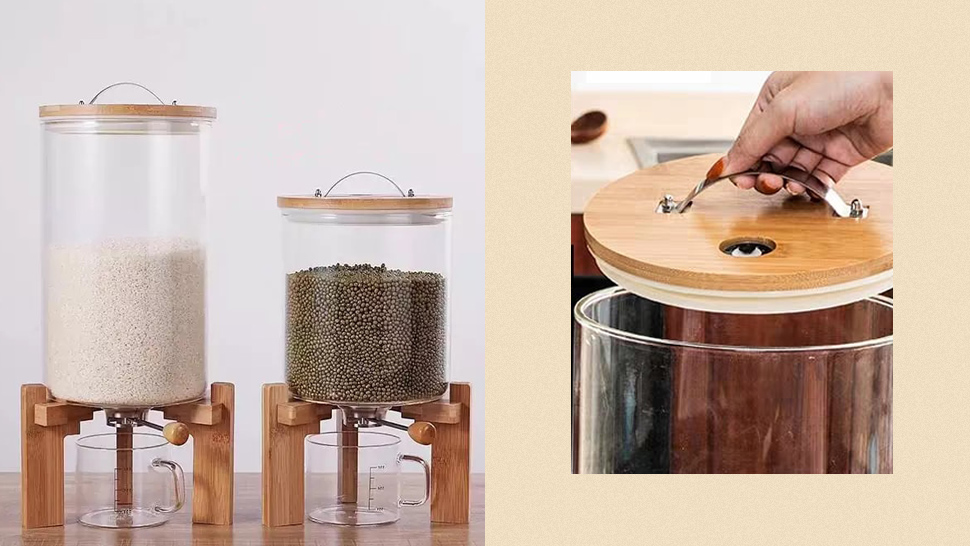 This Aesthetic Rice Dispenser Is The Kitchen Essential We Never Knew We Needed
