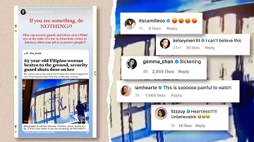 Celebs React To Viral Video Of A 65-year-old Filipina Who Is A Victim Of Anti-asian Violence