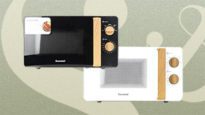 This Aesthetic Microwave Will Fit Right Into Your Wood + White Themed Home