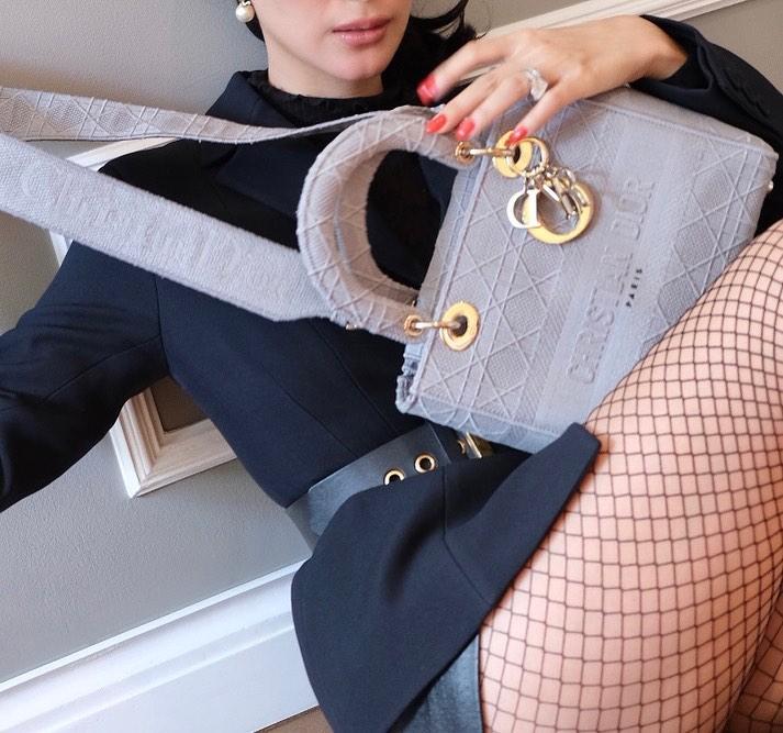 Heart Evangelista designer bag lady dior bag