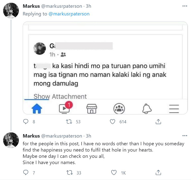 janella salvador and markus paterson call out netizen who bashed son jude