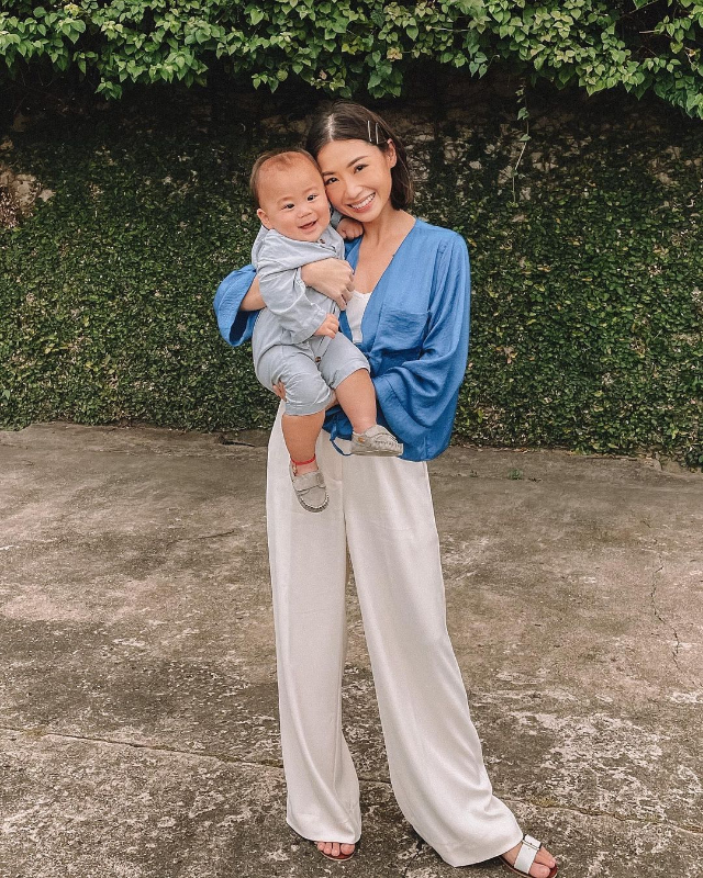 Kryz Uy with her son Scott