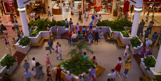 Starcourt Mall in Stranger Things