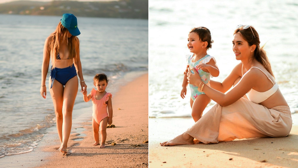 We Love Sofia Andres and Baby Zoe's Simple Yet Stylish Beach OOTDs