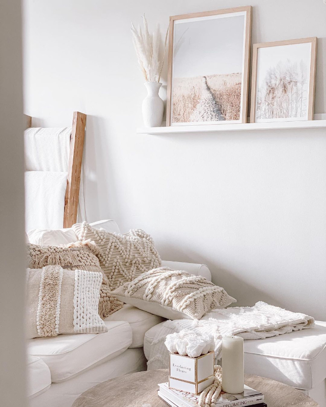 white and bohemian home peg