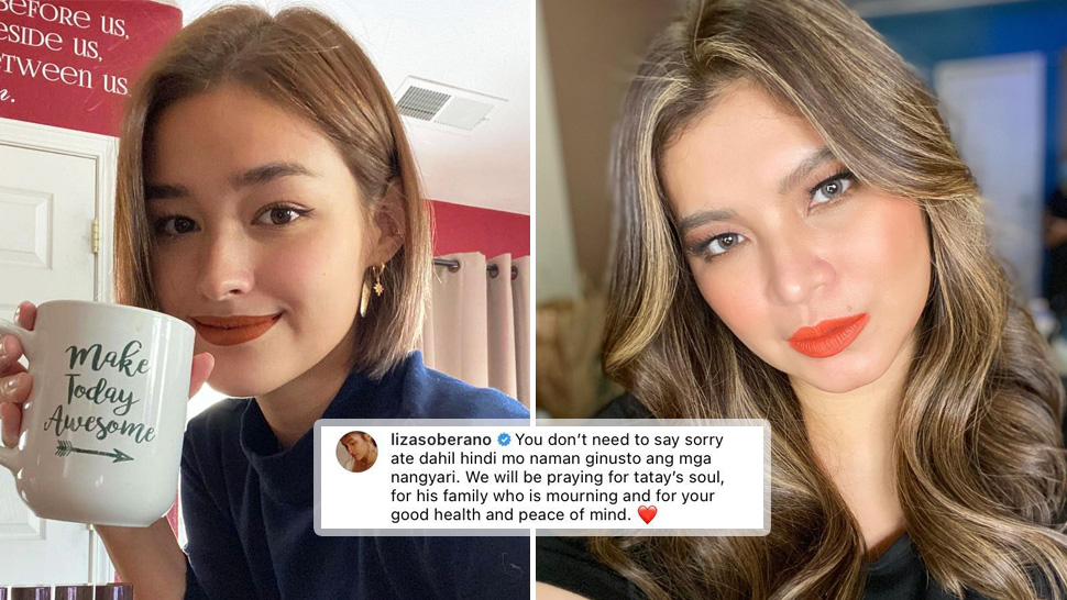 """Liza Soberano Addresses """"You Don't Need to Say Sorry"""" Comment on Angel Locsin's Post"""