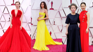 10 Best Dressed Women At The Oscars 2021 Red Carpet