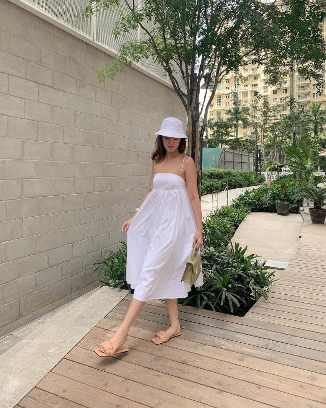 strappy white dress ootd pamela andres