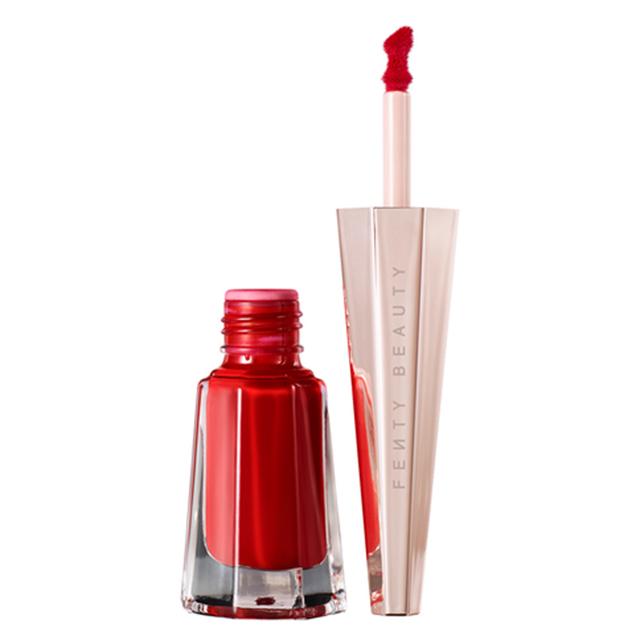 fenty beauty red lipstick for morena