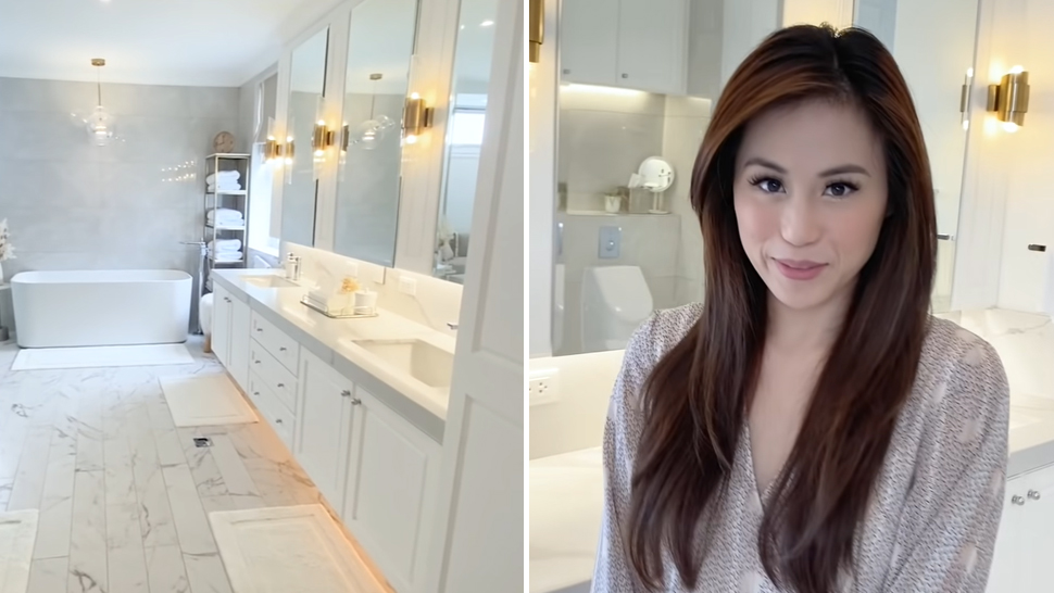 Toni Gonzaga's All-white Bathroom Looks Straight Out Of A Luxury Hotel