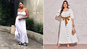 10 Flattering White Dress Outfit Combinations For Curvy Girls