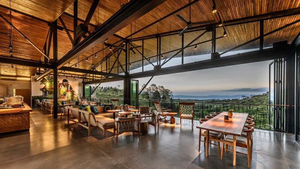 You Have To See This Open-air Starbucks That Has A Stunning View Of A Coffee Farm