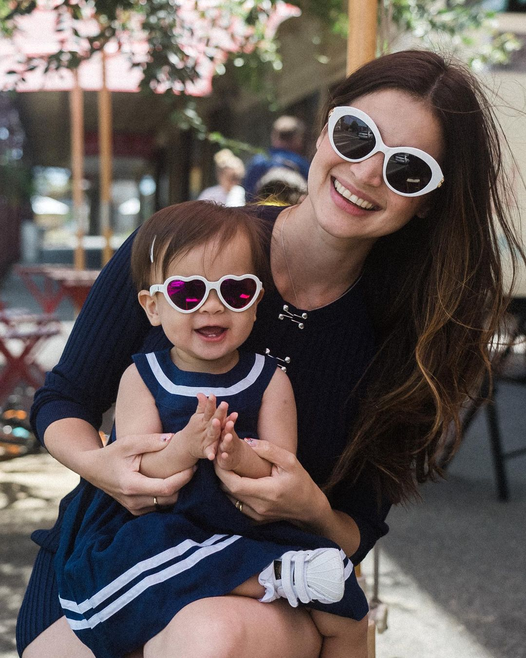 celebrity mom and kids twinning outfits