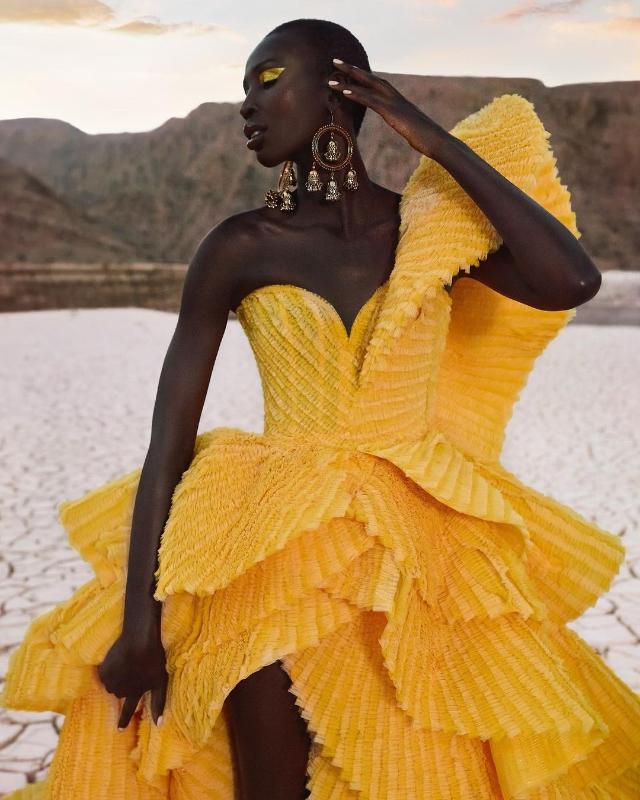 miss canada nova stevens gown by michael cinco