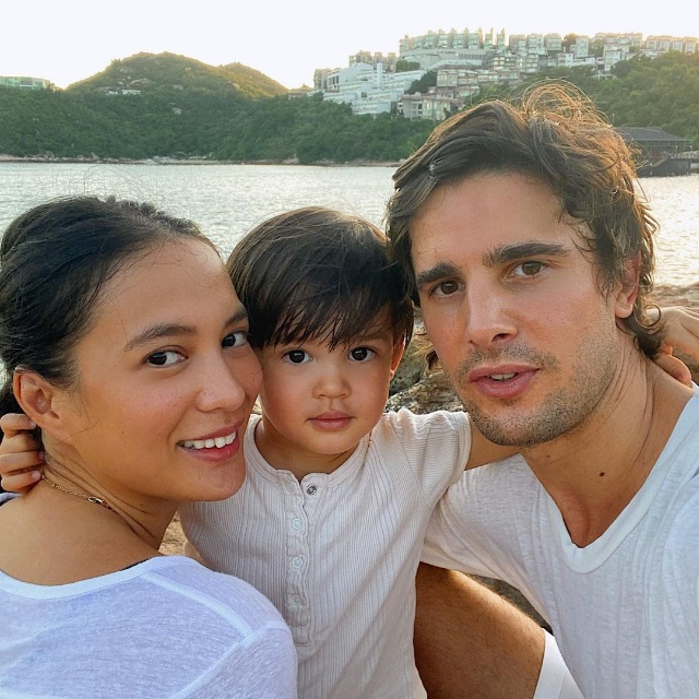 isabelle daza husband and son