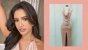 Rabiya Mateo Wore A Sexy Slip Dress Inspired By Philippine Gold