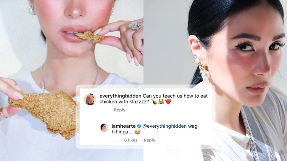 "Netizens Are Losing It Over Heart Evangelista Eating Chicken in an ""Expensive Way"""