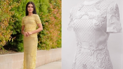 Rabiya Mateo Wore A Gorgeous Sheer Dress Inspired By The Barong Tagalog