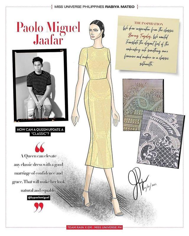 Miss Universe Philippines Rabiya Mateo Barong Tagalog dress