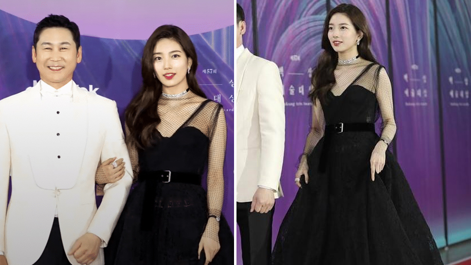 Bae Suzy Looked Stunning in All-Black at the 57th Baeksang Arts Awards Red Carpet