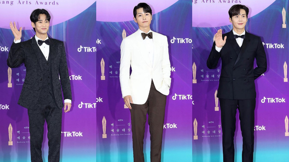 Here's What Your Favorite K-drama Leading Men Wore To The 57th Baeksang Arts Awards