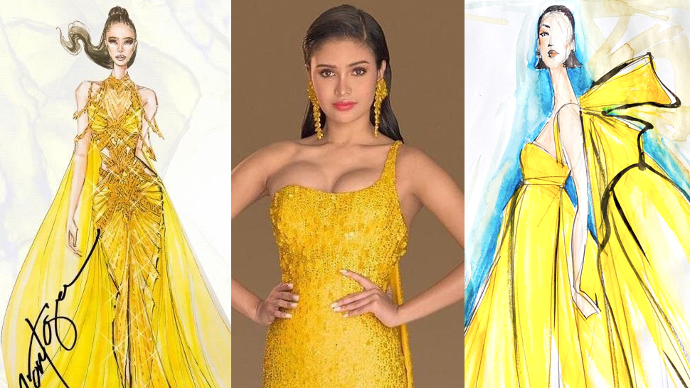Filipino Designers Sketch Miss Universe Evening Gowns For Rabiya Mateo