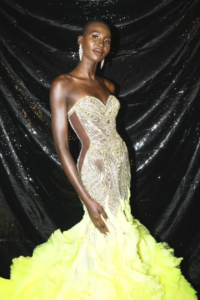miss universe Canada 2020 nova Stevens wearing Michael cinco gown