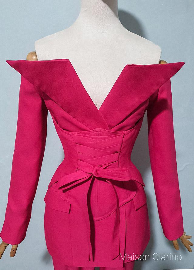 jaggy glarino makes a custom suit for miss universe canada nova stevens